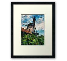 sketching windmill Framed Print