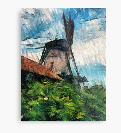 sketching windmill Metal Print