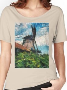 sketching windmill Women's Relaxed Fit T-Shirt