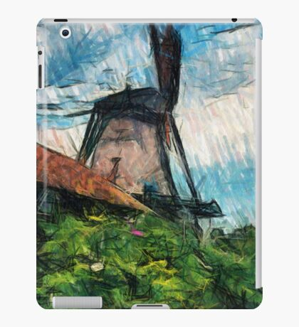 sketching windmill iPad Case/Skin