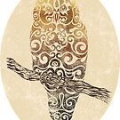 Swirly Owl by . VectorInk