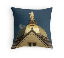 Golden Dome-University of Notre Dame Throw Pillow