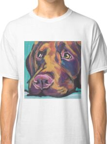Chocolate Labrador Retriever Dog Bright colorful pop dog art Classic T-Shirt