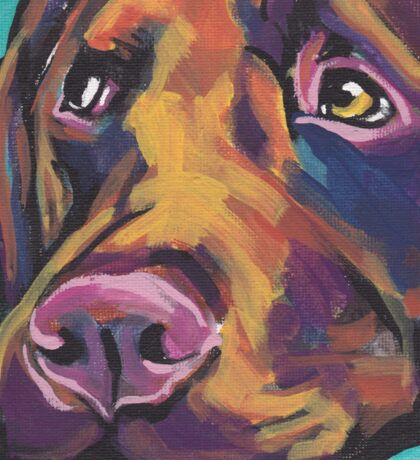 Chocolate Labrador Retriever Dog Bright colorful pop dog art Sticker