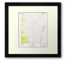 USGS TOPO Map Arizona AZ Bumble Bee 310650 1969 24000 Framed Print