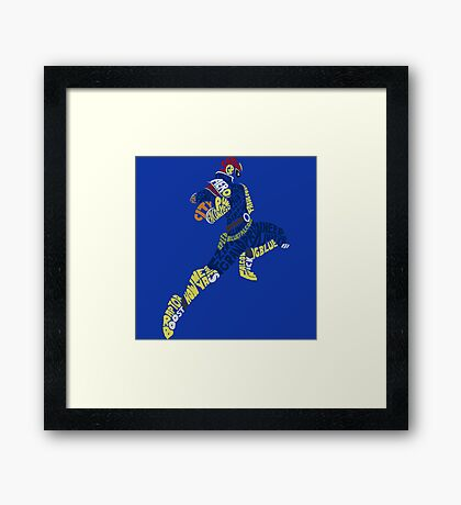 Captain Falcon Typography - Justice is Served! Framed Print