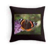 Red Admiral butterfly 11 Throw Pillow