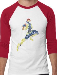 Captain Falcon Typography - Justice is Served! Men's Baseball ¾ T-Shirt