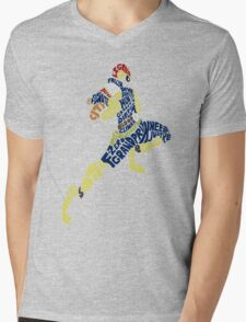 Captain Falcon Typography - Justice is Served! Mens V-Neck T-Shirt