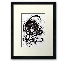 Lost In Dark Hair Framed Print