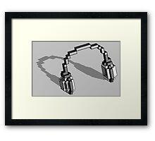 Voxelphones Framed Print