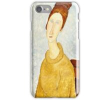 Amedeo Modigliani - Jeanne Hebuterne With Yellow Sweater (Le Sweater Jaune)  iPhone Case/Skin