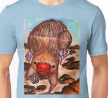 Platypus Collecting Pebbles Underwater Unisex T-Shirt