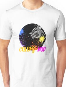 SAFARI COLORS POP - ZEBRA Black Edition Unisex T-Shirt