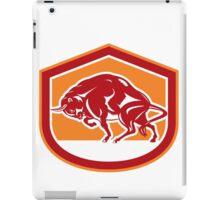 European Bison Charging Shield Retro iPad Case/Skin