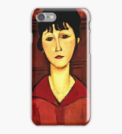 Amedeo Modigliani - Head Of A Young Girl  iPhone Case/Skin