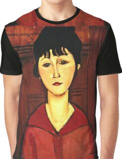 Amedeo Modigliani - Head Of A Young Girl  Graphic T-Shirt