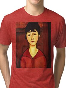 Amedeo Modigliani - Head Of A Young Girl  Tri-blend T-Shirt