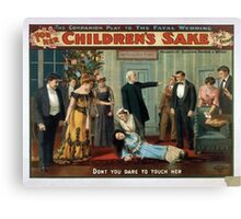 Performing Arts Posters For her childrens sake by Theo Kremer the companion play to The fatal wedding 0056 Canvas Print