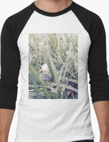 Brickography - In the Grass Men's Baseball ¾ T-Shirt