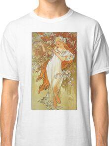 Alphonse Mucha - Spring 1896 Classic T-Shirt
