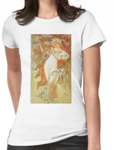 Alphonse Mucha - Spring 1896 Womens Fitted T-Shirt