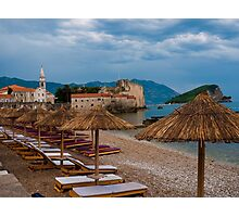 Storm Clouds Over Budva Photographic Print