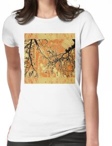 Fragility of Life- Yellow and Orange  Womens Fitted T-Shirt