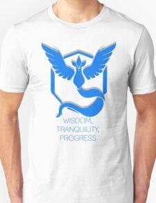 Team Mystic - Wisdom, Tranquility, Progress Unisex T-Shirt