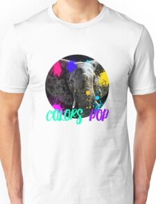 SAFARI COLORS POP - ELEPHANT Black Edition Unisex T-Shirt