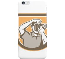 Photographer Camera Shield Retro iPhone Case/Skin