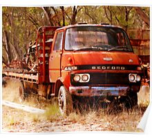 old rusty small truck Poster