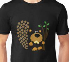 Cute Funky Beaver Abstract Art Original Unisex T-Shirt