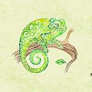 Swirly Chameleon by . VectorInk