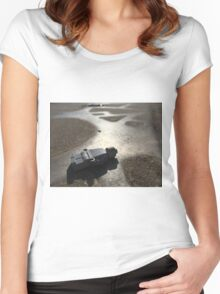 Brickography - On Metal Women's Fitted Scoop T-Shirt