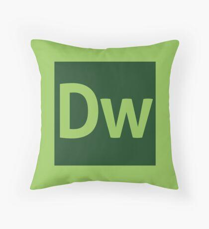 Dreamweaver (Adobe CS) Throw Pillow Throw Pillow