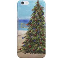 Christmas Tree at the Beach iPhone Case/Skin