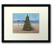 Christmas Tree at the Beach Framed Print