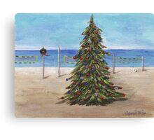 Christmas Tree at the Beach Canvas Print