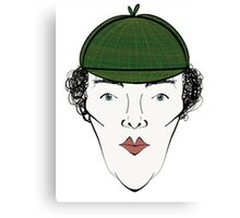 Sherlock in his Hat Canvas Print