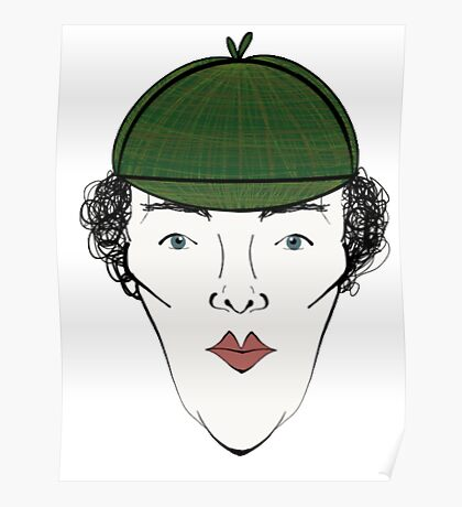 Sherlock in his Hat Poster