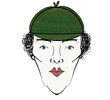 Sherlock in his Hat Photographic Print
