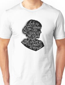 Virginia Woolf Quote and Silloette  Unisex T-Shirt
