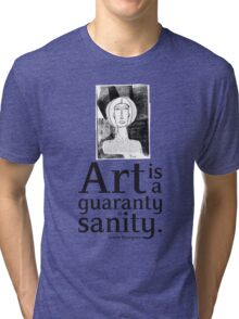 women quote about creativity_Louise Bourgeois Tri-blend T-Shirt