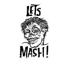 Let's Mash, Zombie! Photographic Print