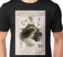 Performing Arts Posters Geo W Lederers Belle of New York the rage of two continents book by Hugh Morton music by Gustav Kerker 1238 Unisex T-Shirt