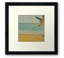 Moment fugace à Portez Beach Framed Print