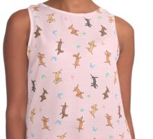 Chasing Butterfly Contrast Tank
