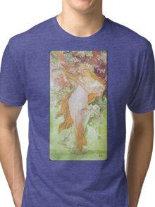 Alphonse Mucha - Printempsspring 2 Tri-blend T-Shirt