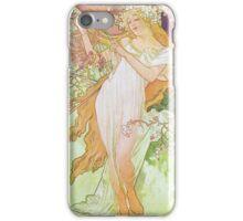 Alphonse Mucha - Printempsspring 2 iPhone Case/Skin